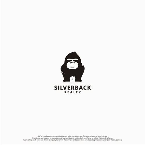 creative logo for silverback realty