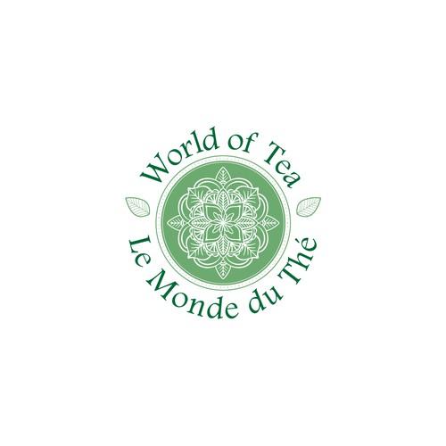 Dainty mandala logo for tea brand