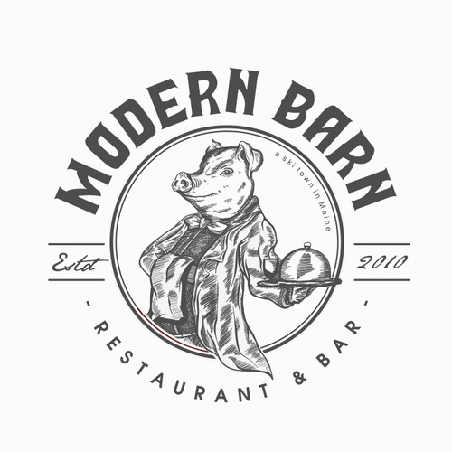rustic modern logo for Modern Barn