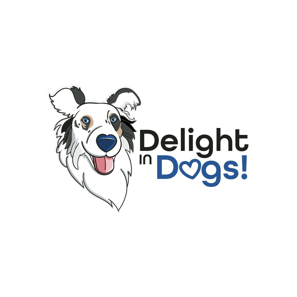 A logo for teaching dogs will skill, knowledge and heart.