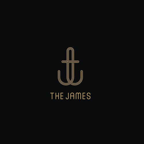 """TJ"" monogram for the james logo"