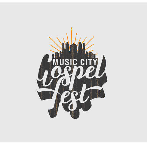 A vintage style of a gospel music fest.