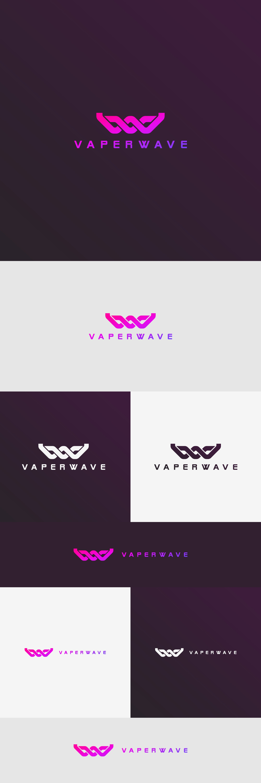 Design a Cyberpunk logo for a e-cig/vape shop from the future