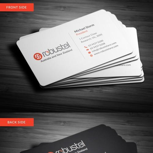 Modern Sleek Professional Business Card