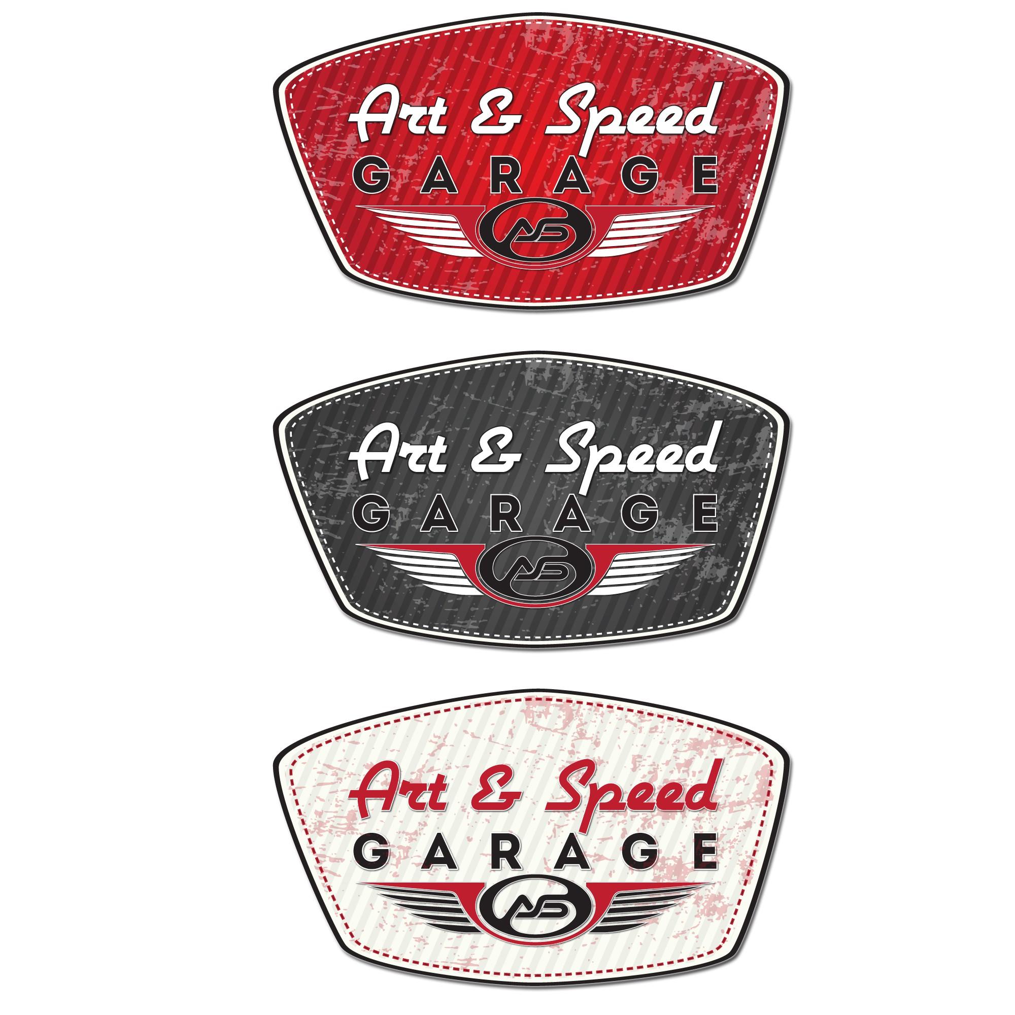 "Create a Vintage/Retro Sign for ""Art & Speed Garage"""