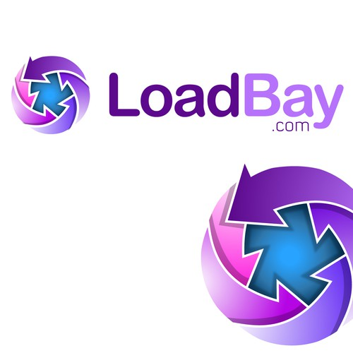 Logo design for a file sharing/hosting project: LoadBay.com