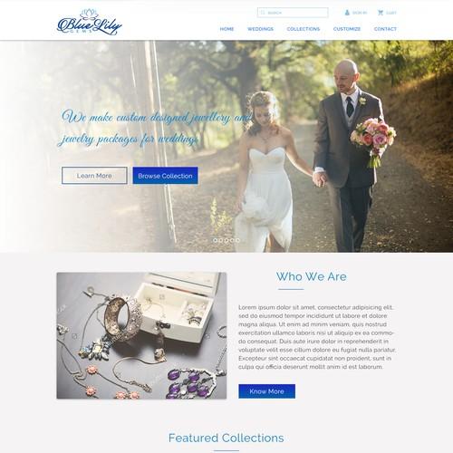 Web Design Contest for Blue Lily Gems