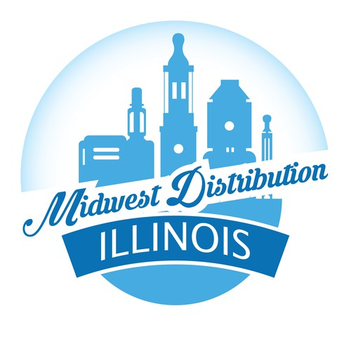 Logo concept for midwest distribution illinois