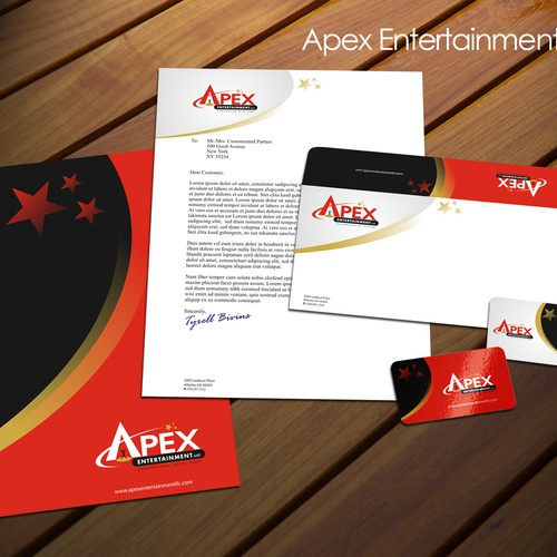 Apex Ent business card