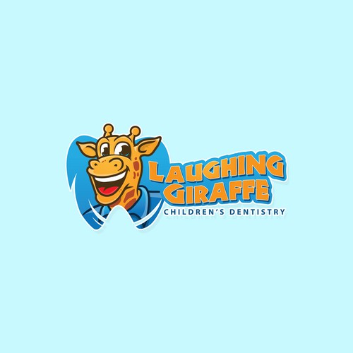 logo and character design for Laughing Giraffe children's dentistry