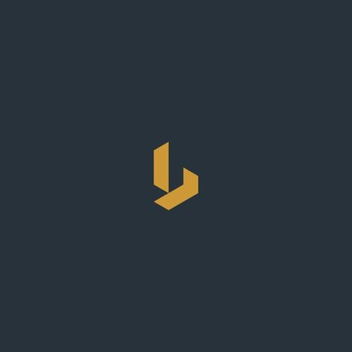 b  geometric logo