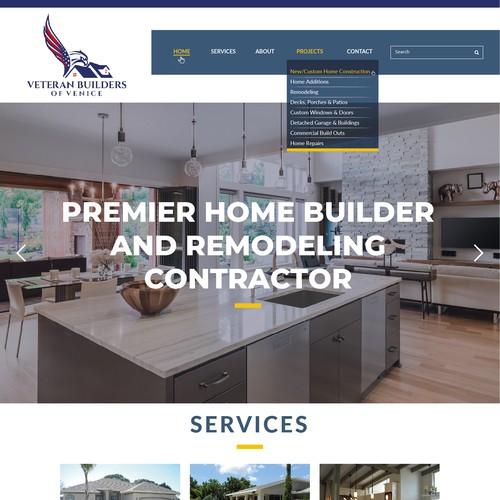 Landing Page for Veteran Builders