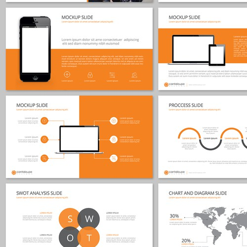Powerpoint template for Cantaloupe Systems