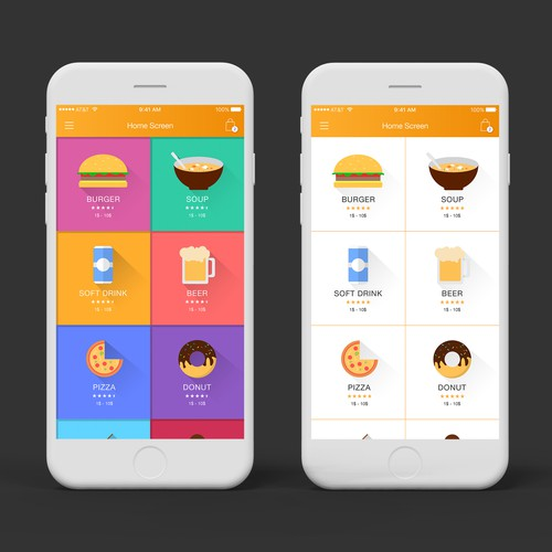 Food App Menu Screen Design