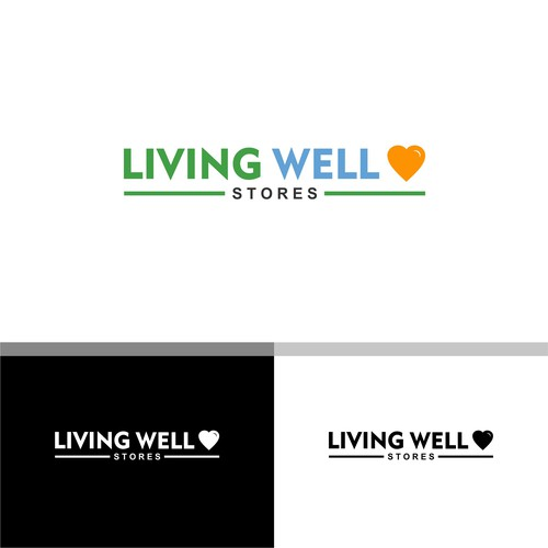 Logo Work For Living Well Stores