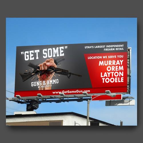 billboard design for GET SOME
