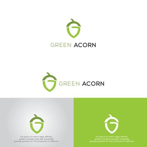 Logo concept for GREEN ACORN