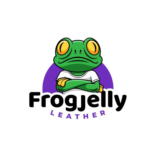 Cartoon logo concept for Frogjelly