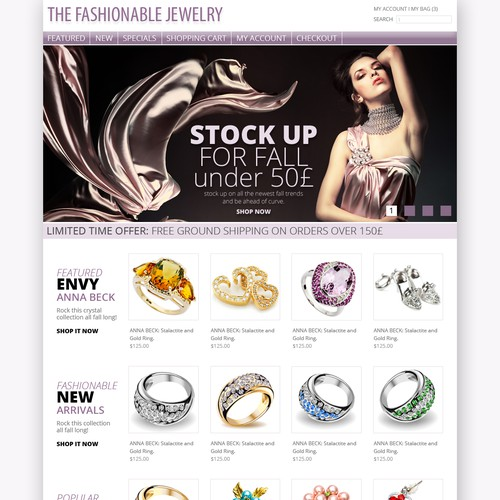 Help The Fashionable Jewelry with a new website design