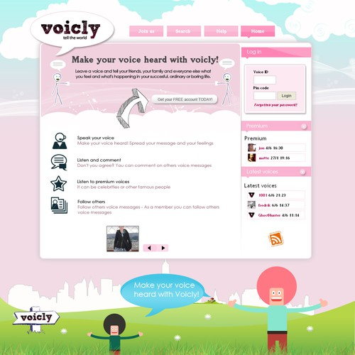 Redesign of our voice blog voicly.com