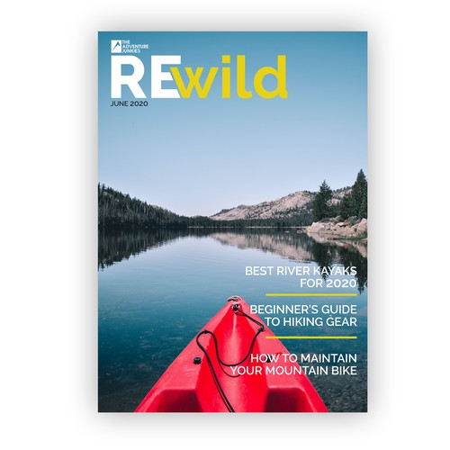 Cover design for REwild Magazine