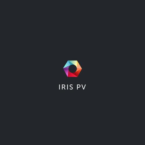 Colorful, geometric logo for solar panel