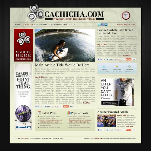 Cachicha Website
