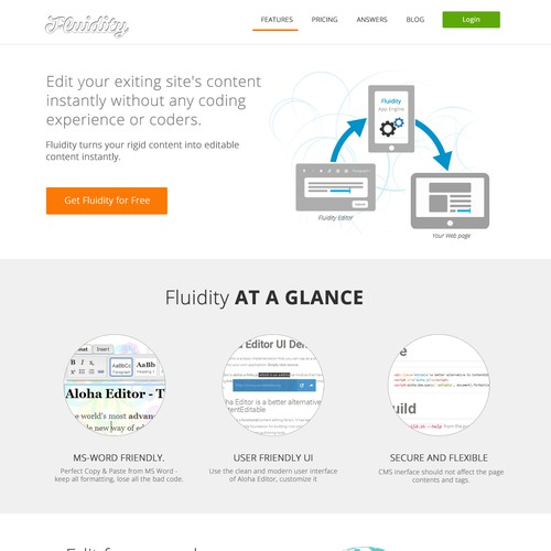 Fluidity Text Editor Home Page