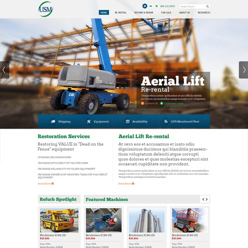 Create the next website design for www.us-markets.com
