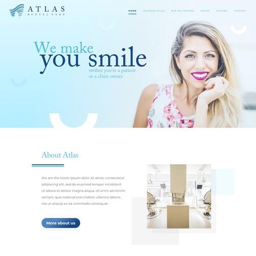 Dental care website design