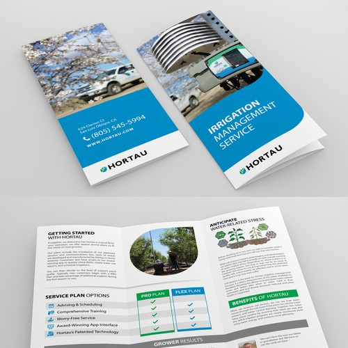 Irrigation management trifold brochure for Hortau
