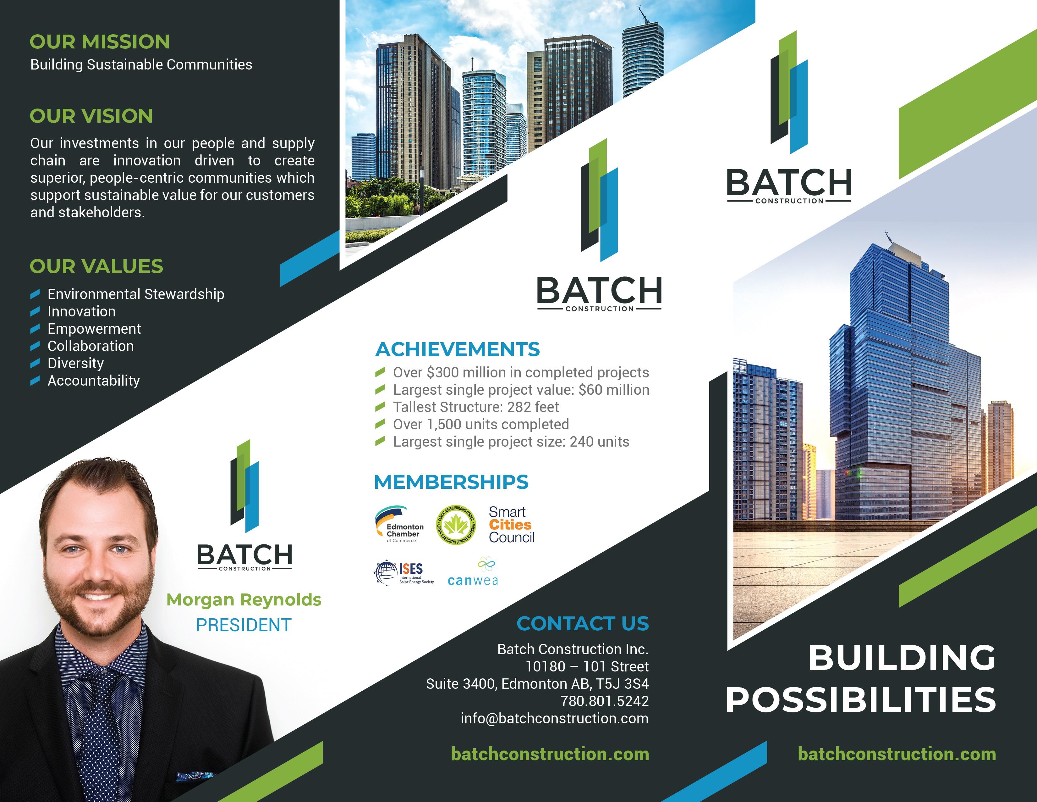 Batch Construction Tri-fold Brochure