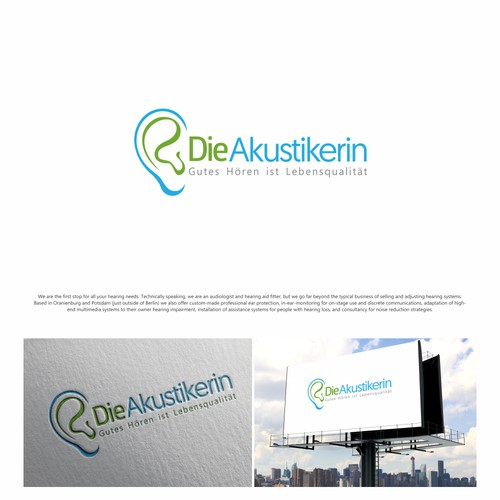 Die Akustikerin needs a great logo for better hearing