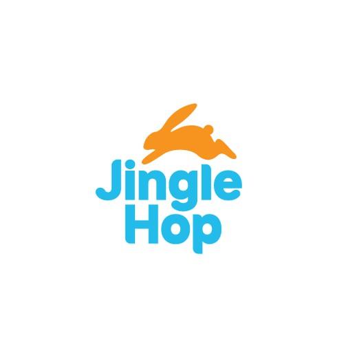 Fun and vibrant logo for Jingle Hop
