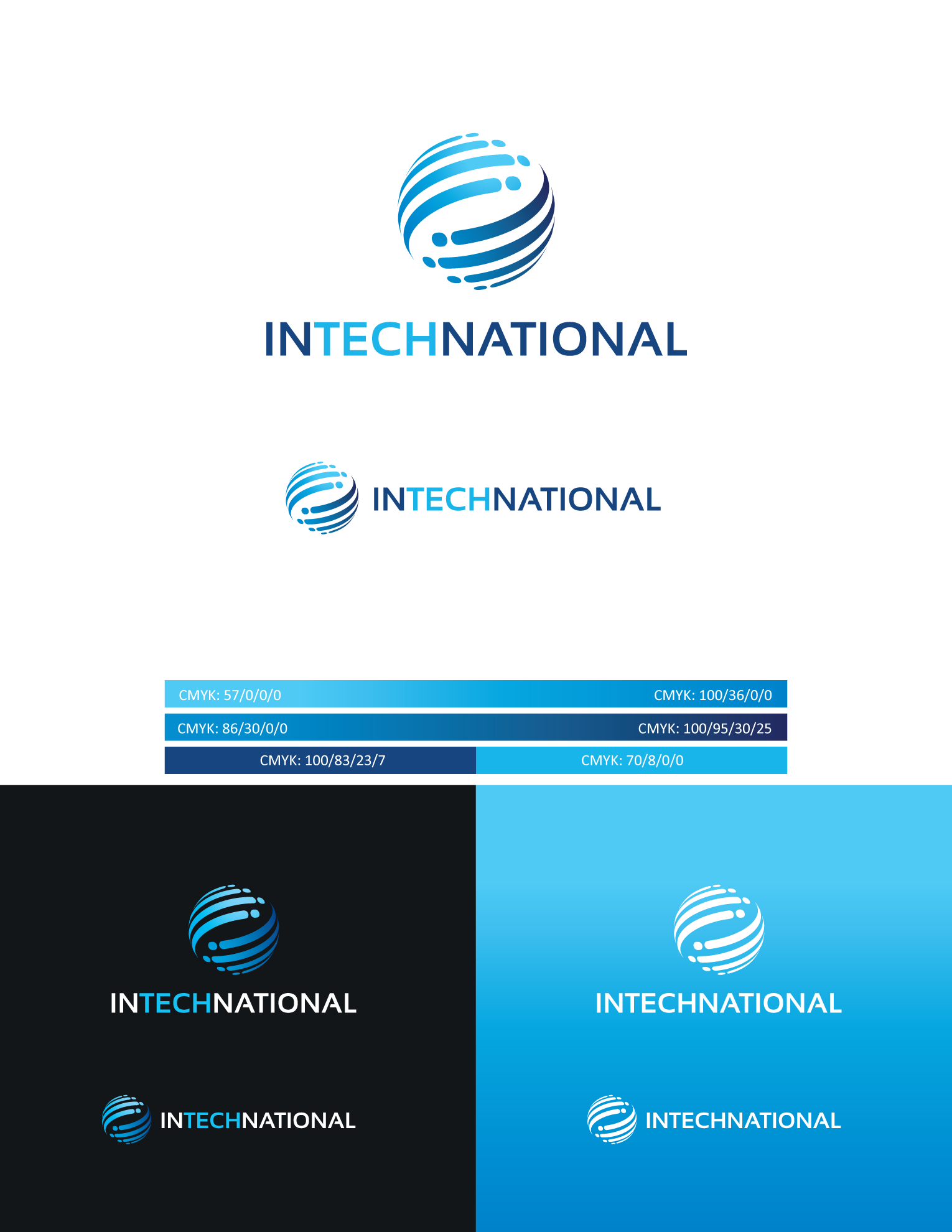 Powerful and bold desgin for tech Int´l business consulting firm!