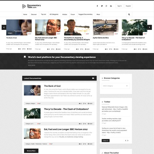 Documentry tube a video Streaming site