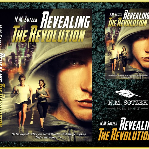 Design an awesome cover for Science/sports-fiction novel 'Revealing the Revolution'
