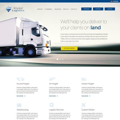 Landing Page for Logistics Company