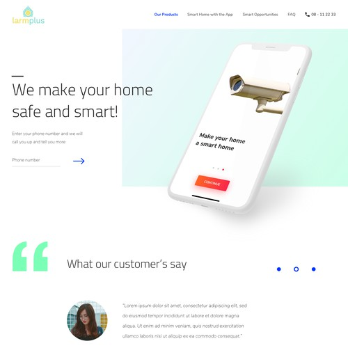 Website for home security services