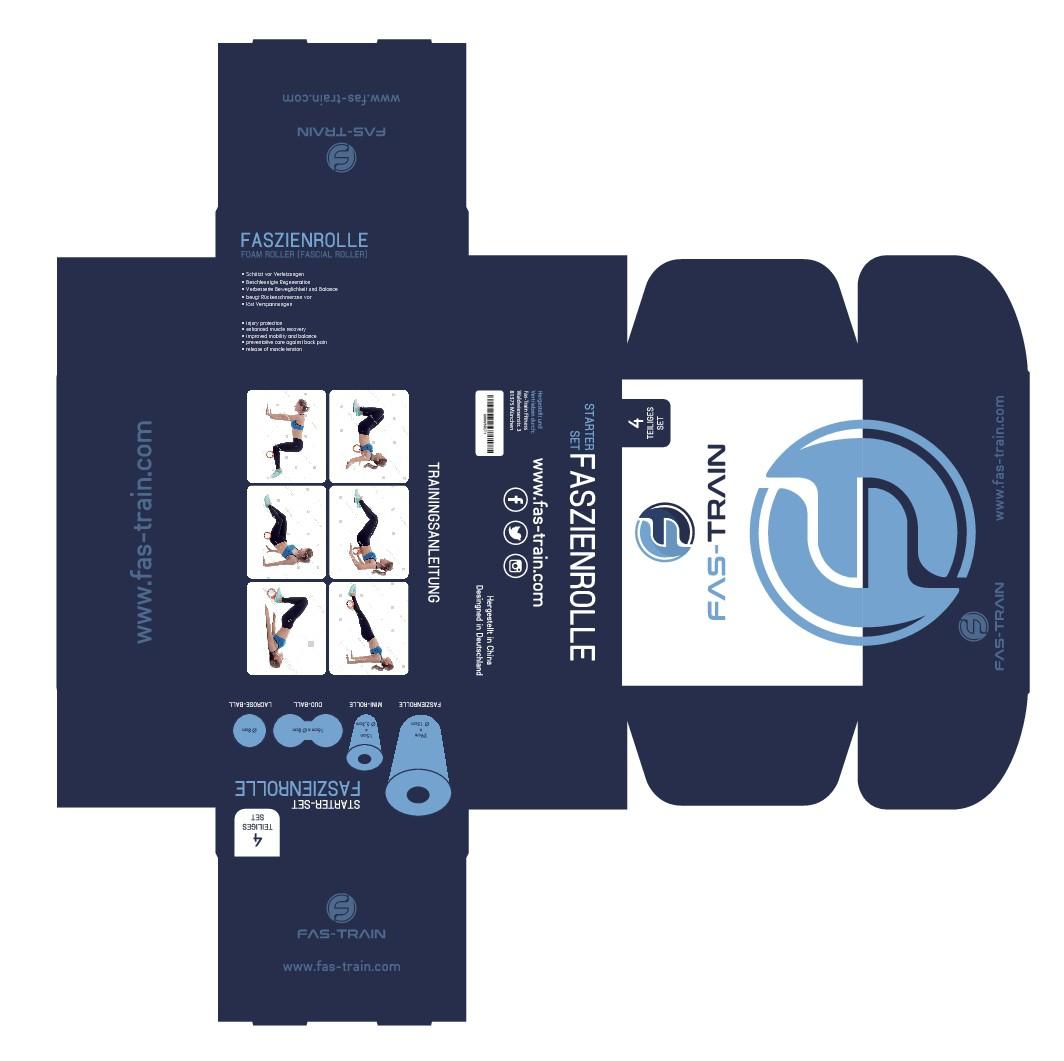 Verpackung für Faszienrollen-Fitness-Set