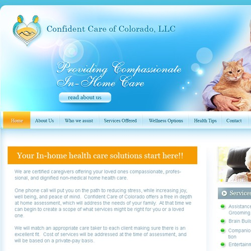 Non-medical Home Healthcare website