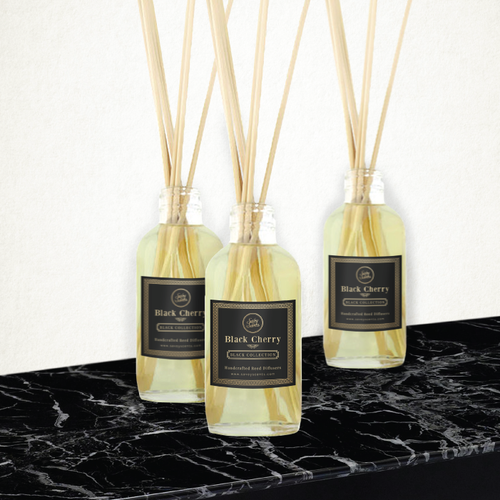 Reed Diffuser labels for Savoy Scents BLACK COLLECTION