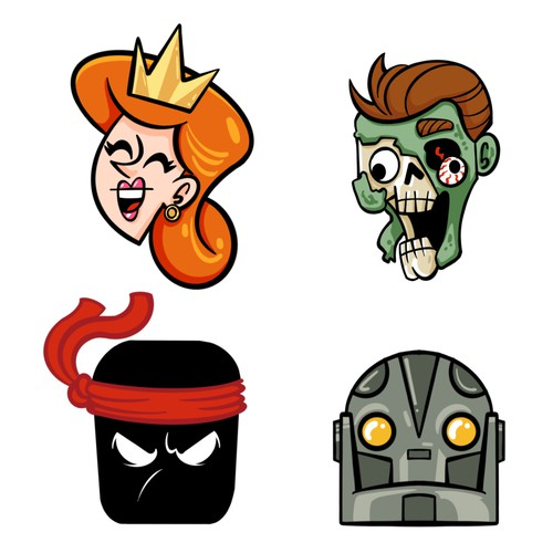 Icon designs for card game
