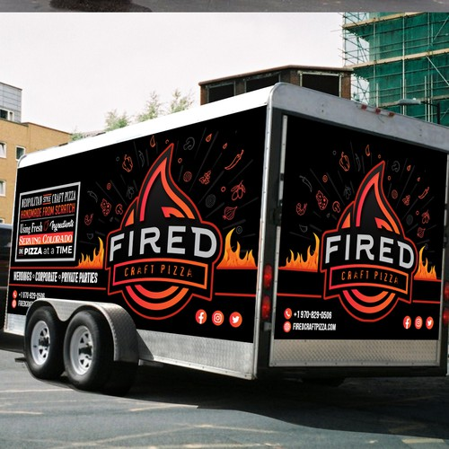 FIre Pizza Truck Wrap