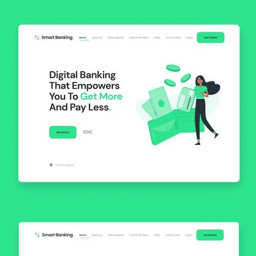 Modern Clean Digital Banking Homepage Design