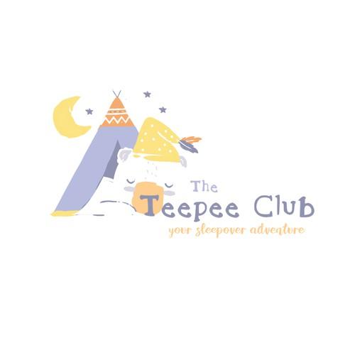 The Teepee Club Logo Design