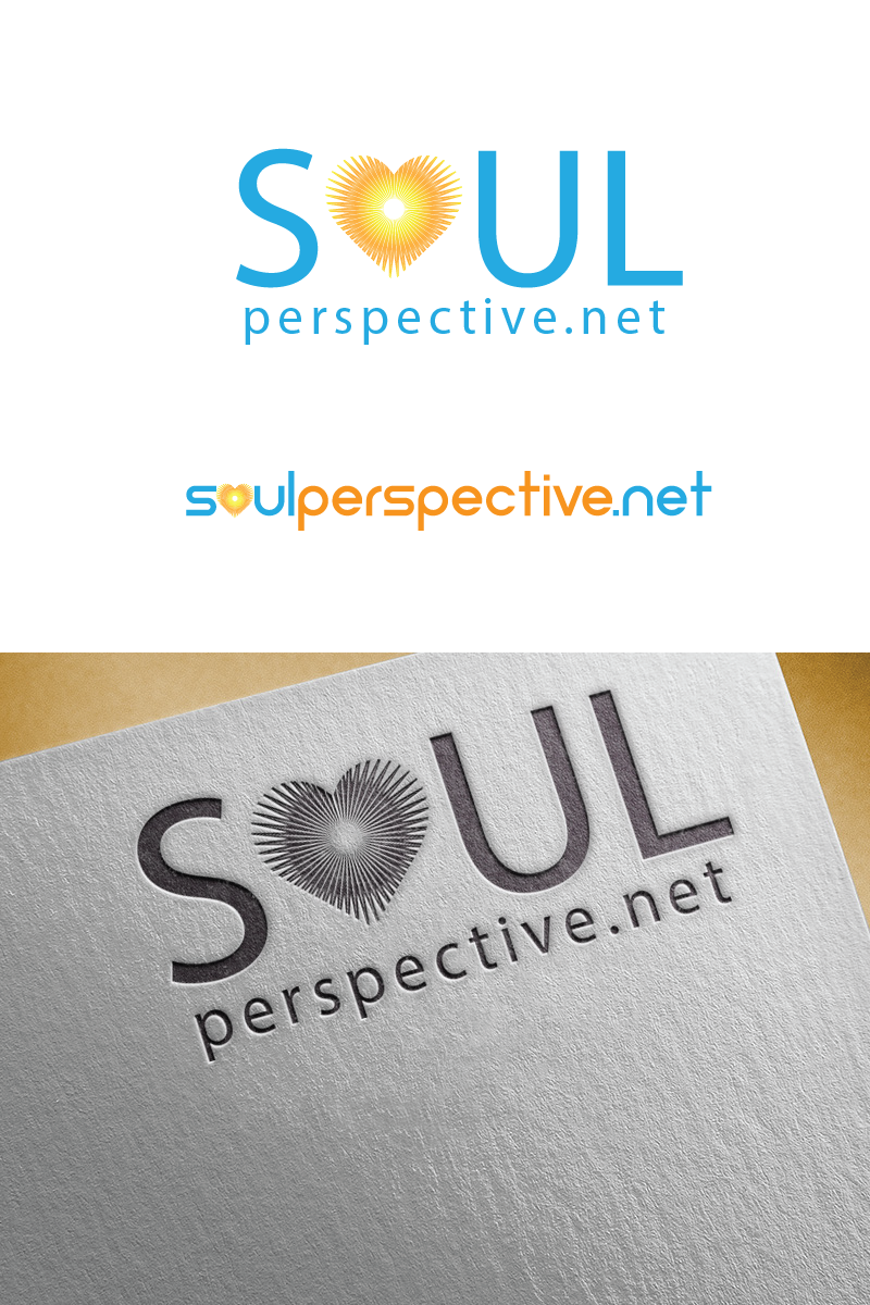 Create an inspirational and soulful logo for a spiritual website.