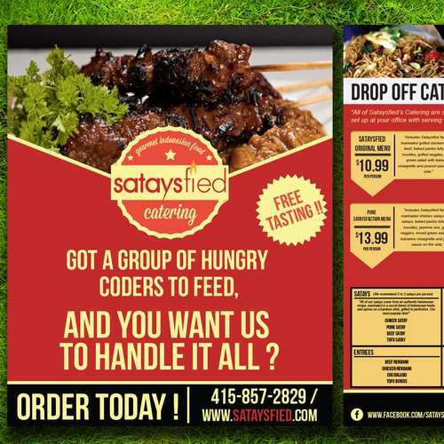 flyer design for an Asian Fusion Catering company