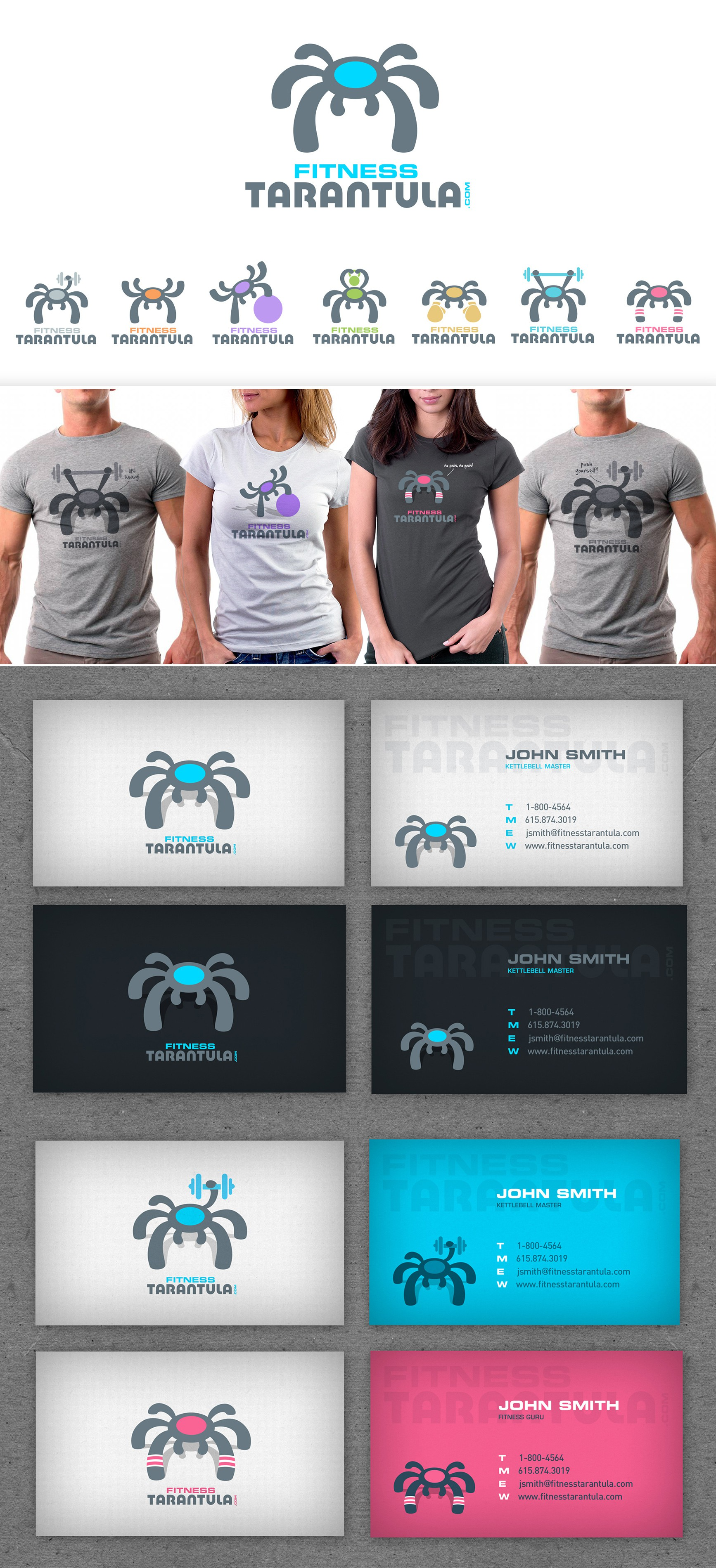 Help Fitness Tarantula with a new logo and business card