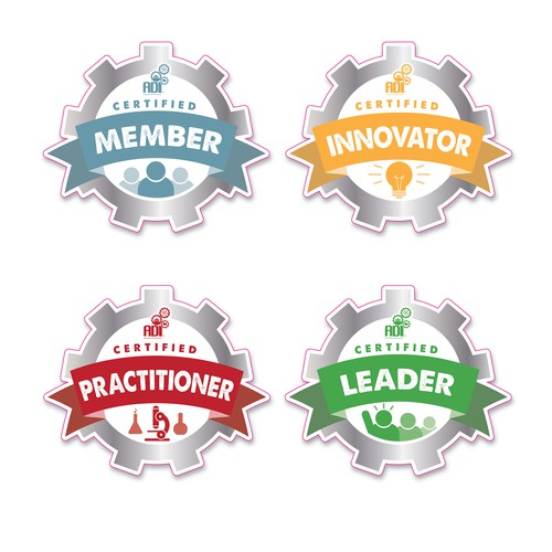 Education Industry Badge Stickers